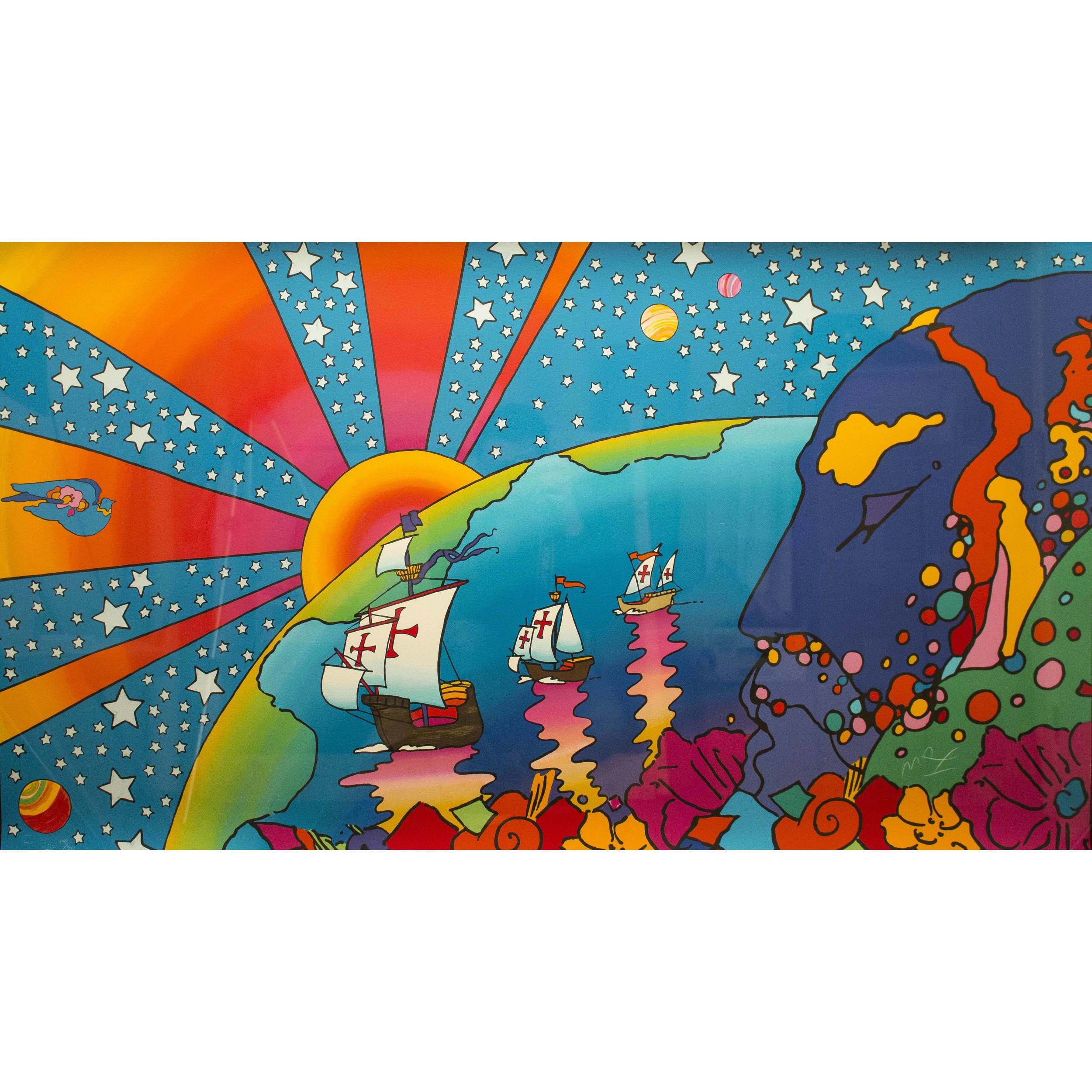 Peter Max Serigraph Quot Discovery 1492 1992 Quot Witherell S