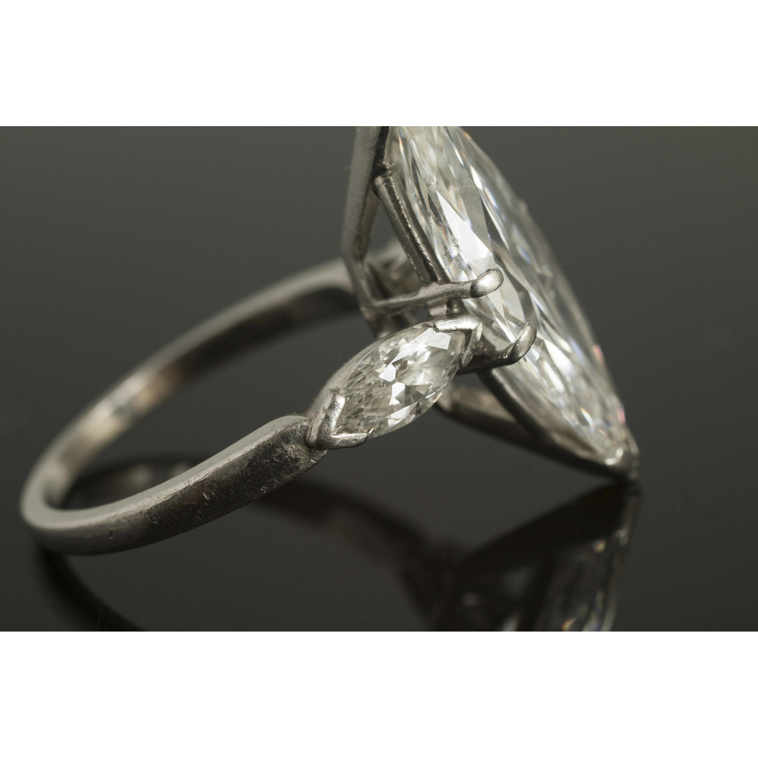 35 ct Marquise Diamond Platinum Ring Witherells Auction House