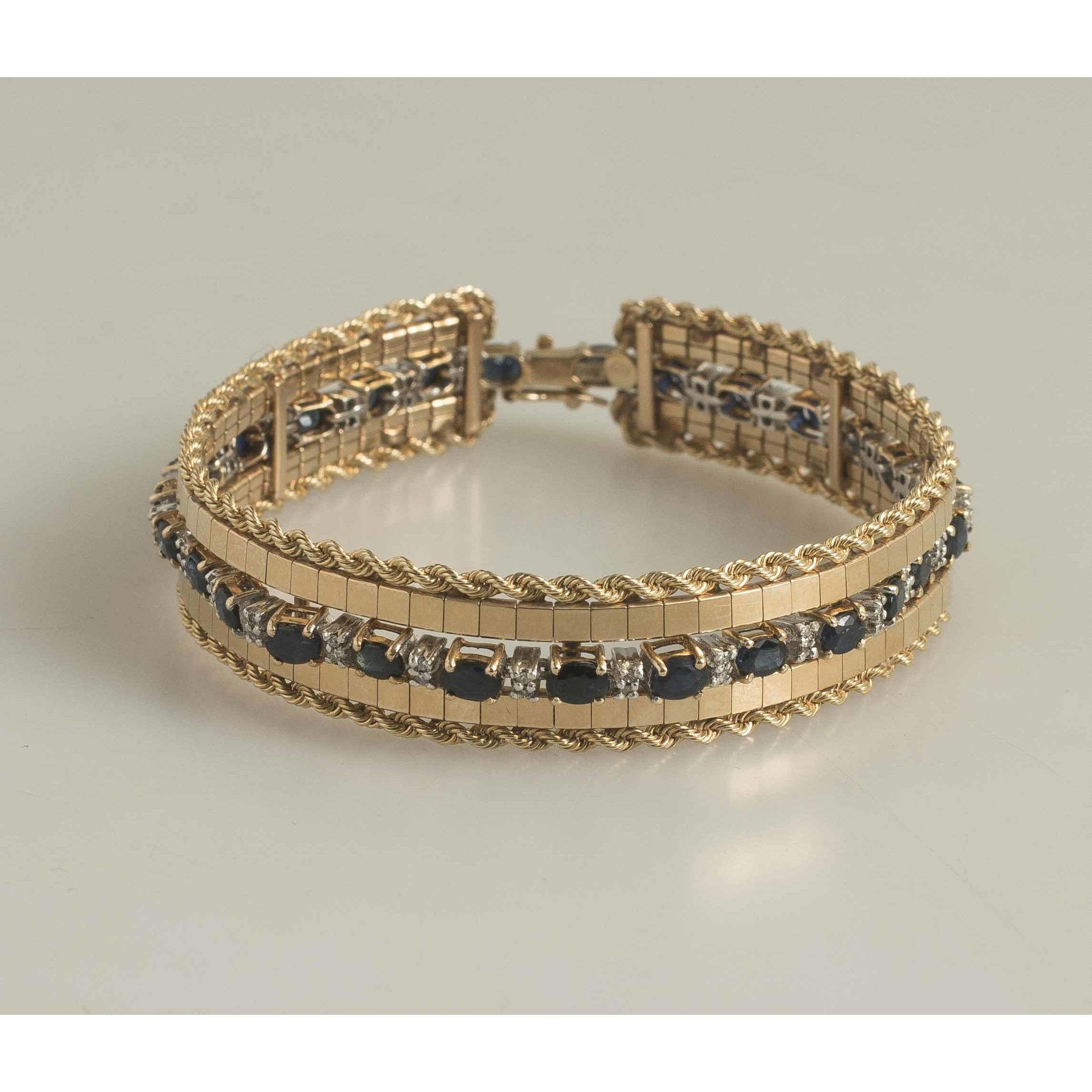 Sapphire Diamond Bracelet Amp 14k Gold Jacket Witherell S