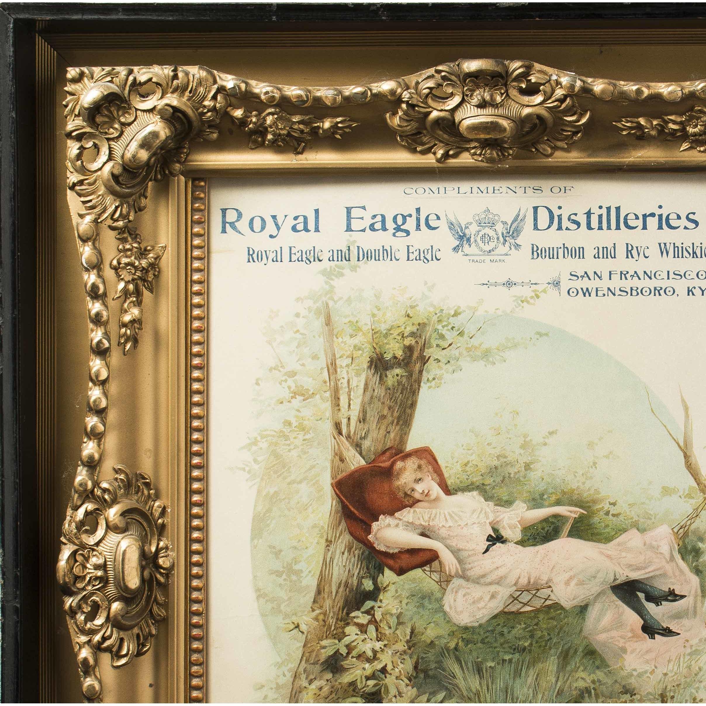 Art Calendar San Francisco : Royal eagle distilleries advertising calendar san