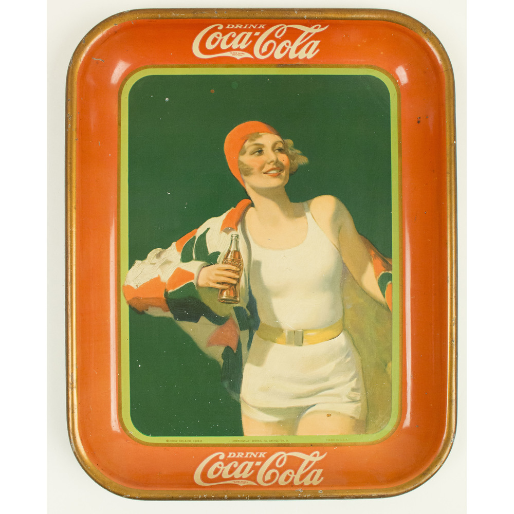Coca-Cola Trays: 1929, 1930, 1933, 1934   Witherell's Auction House