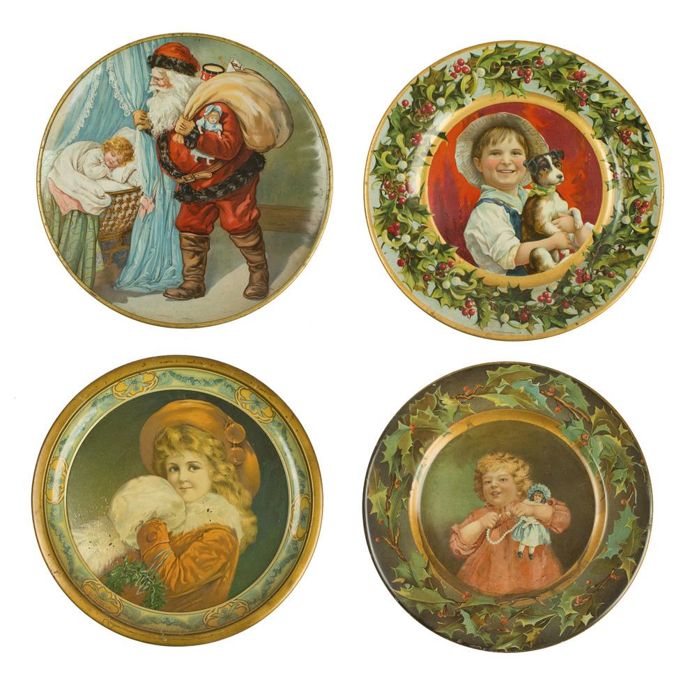 Christmas Plates  sc 1 st  Witherellu0027s & 4 Tin C.D. Kenny Co. Christmas Plates | Witherellu0027s Auction House