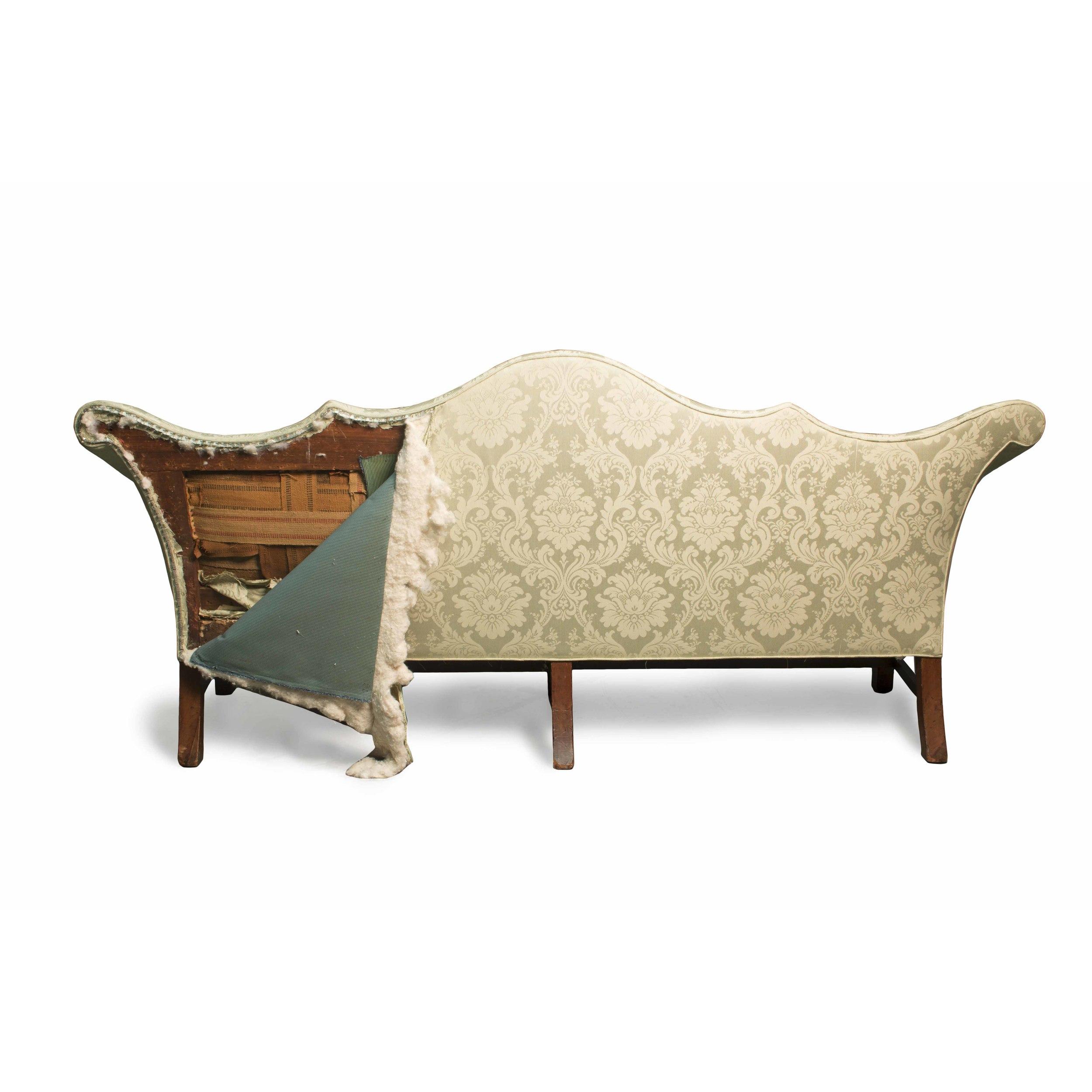 Philadelphia Double Peaked Chippendale Sofa, Ca. 1770