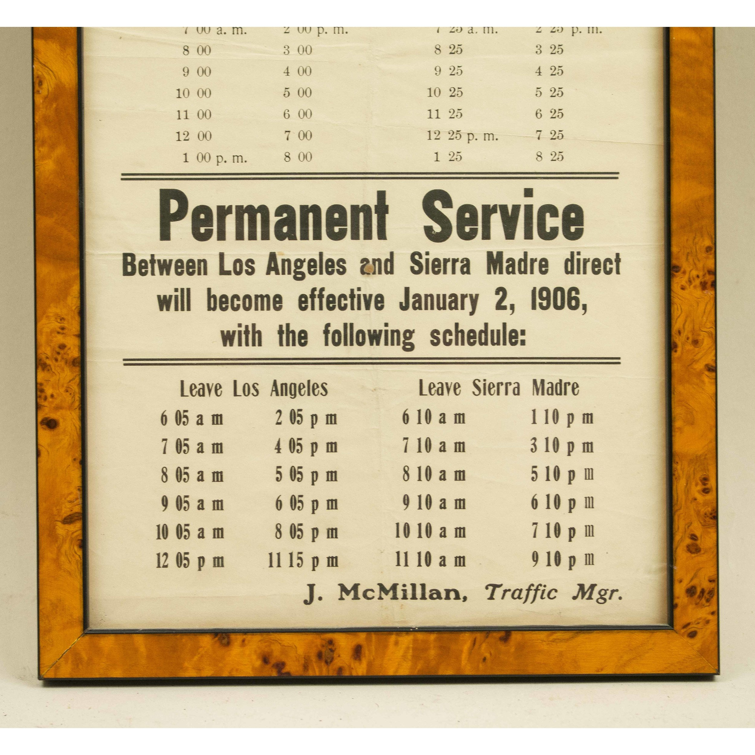 Vintage Train Schedule | Witherell's Auction House