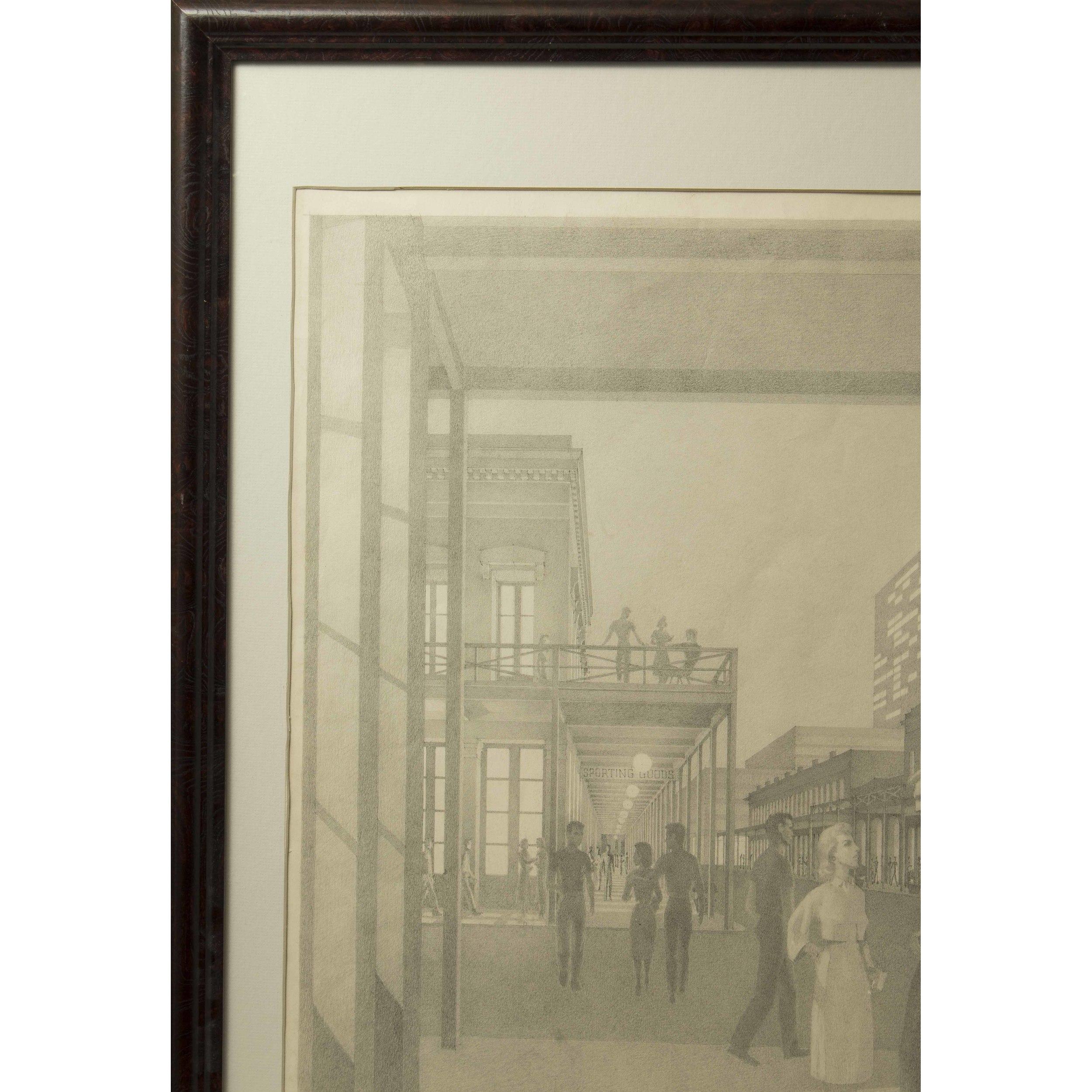 Dunbar Dyson Beck (Ohio/California, 1903-1986) Graphite Drawing ...