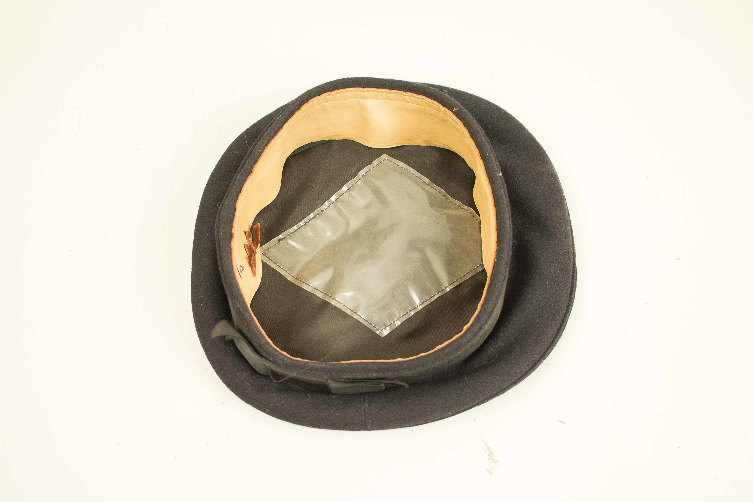 3 pre-WWI US Navy Hats, incl  USS North Carolina, USS Independence
