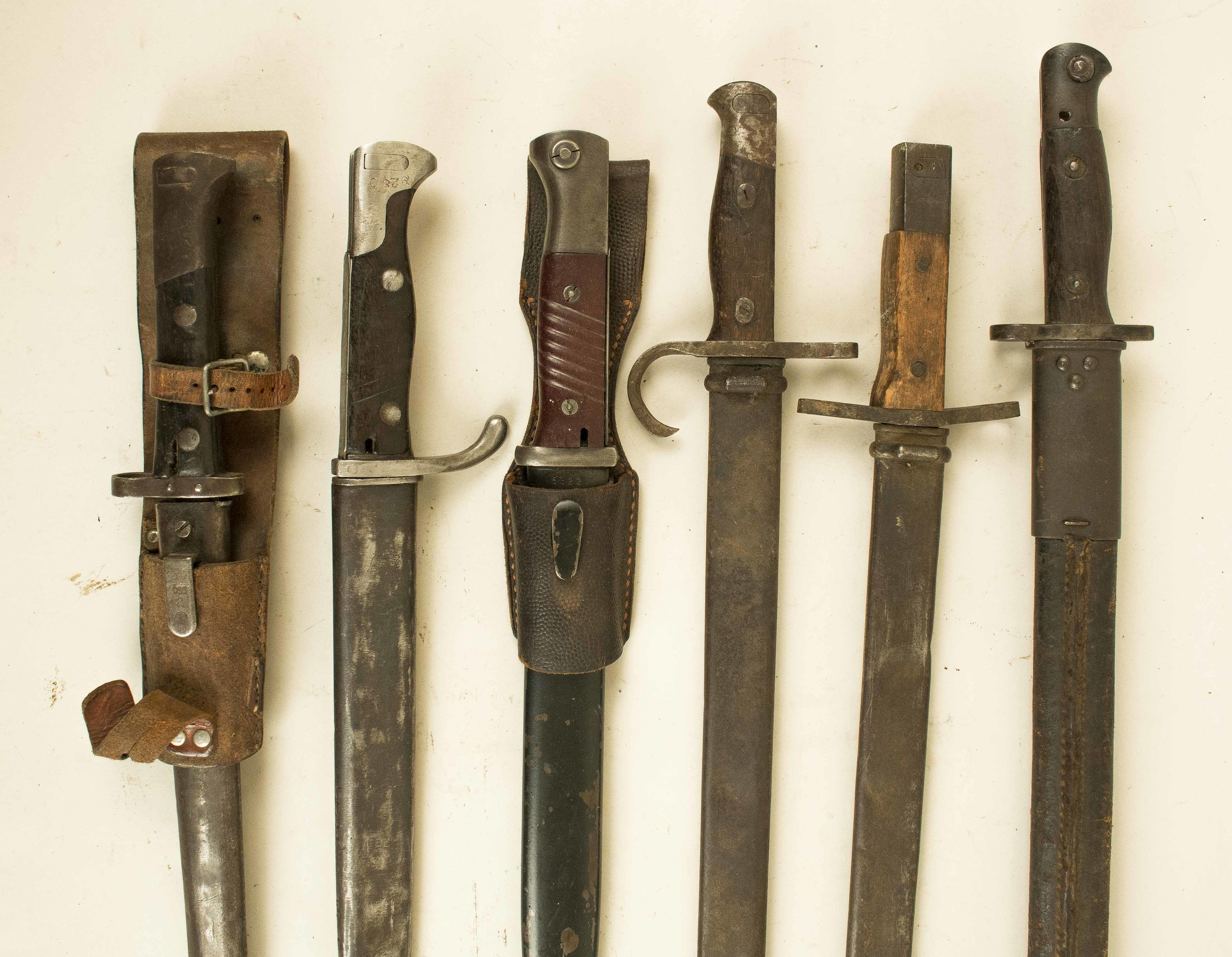 6 Bayonets of WWI and WWII: German, British, Japanese   Witherell's