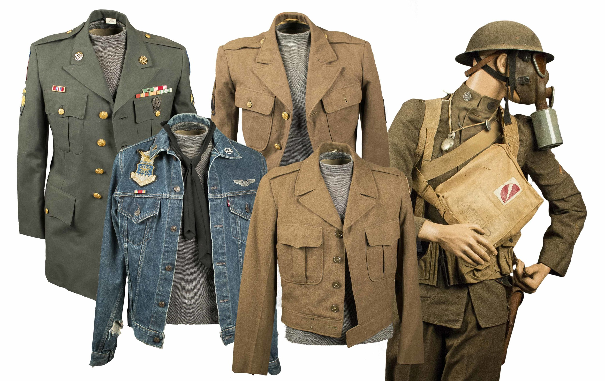 US WWI, WWII and Vietnam Era Uniforms and Gear and BAR Belt