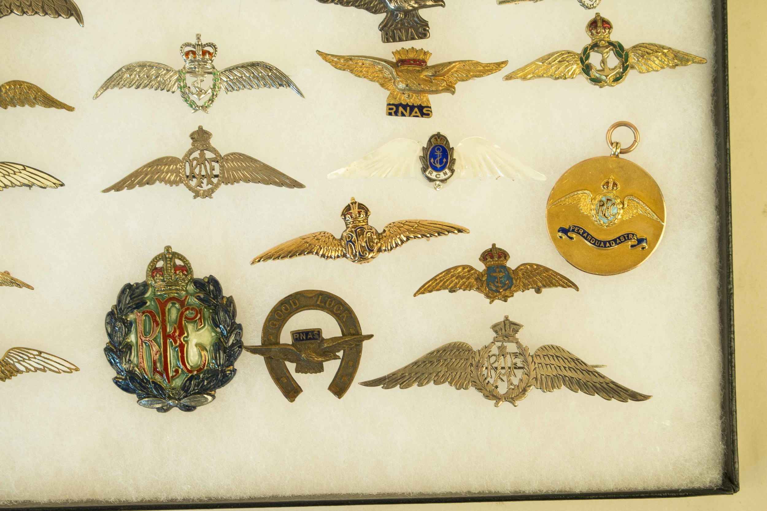78 British RAF, RFC, RNAS Sweetheart Wings, Badges, and