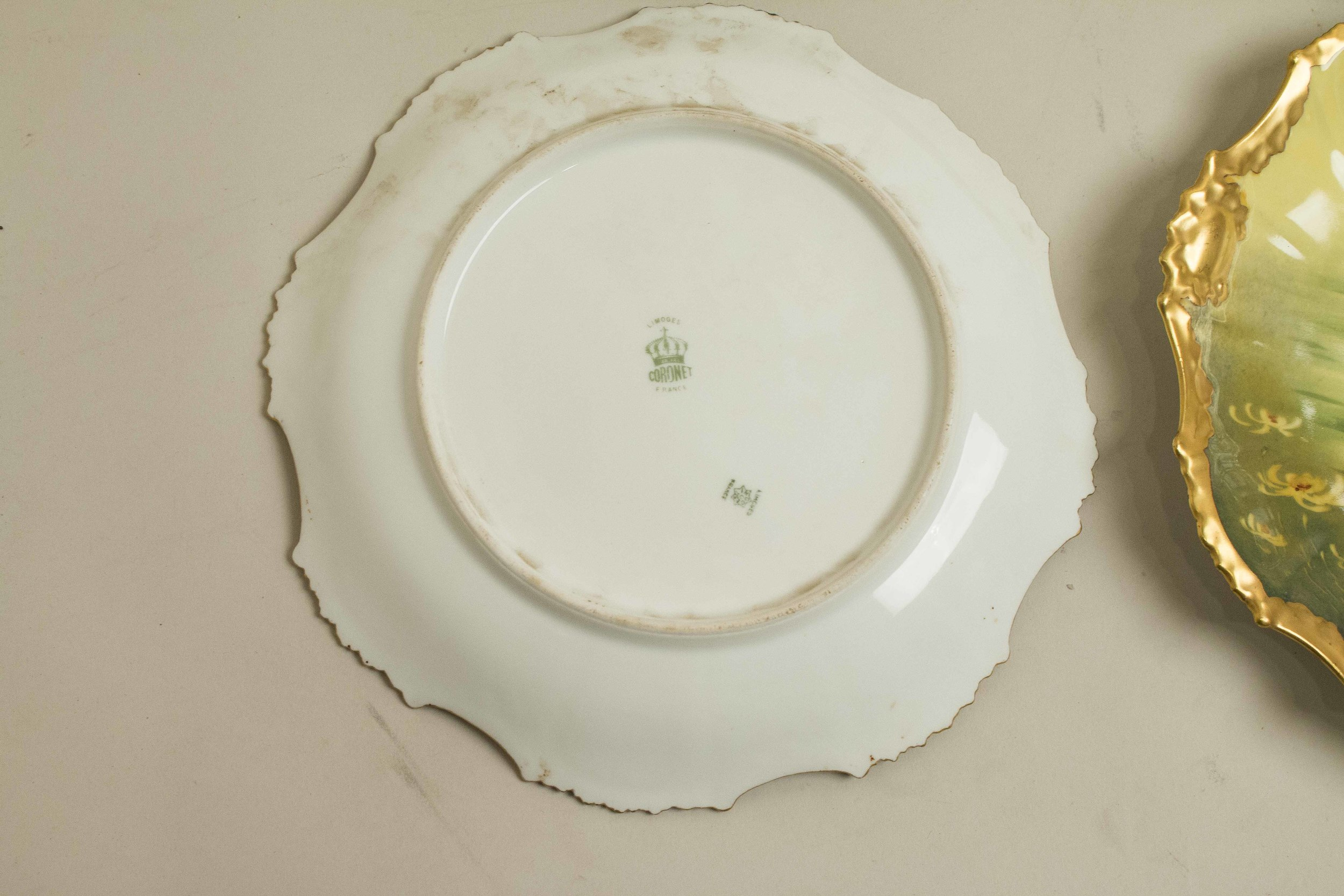 Six Limoges Coronet Porcelain Fish Plates | Witherell\'s Auction House
