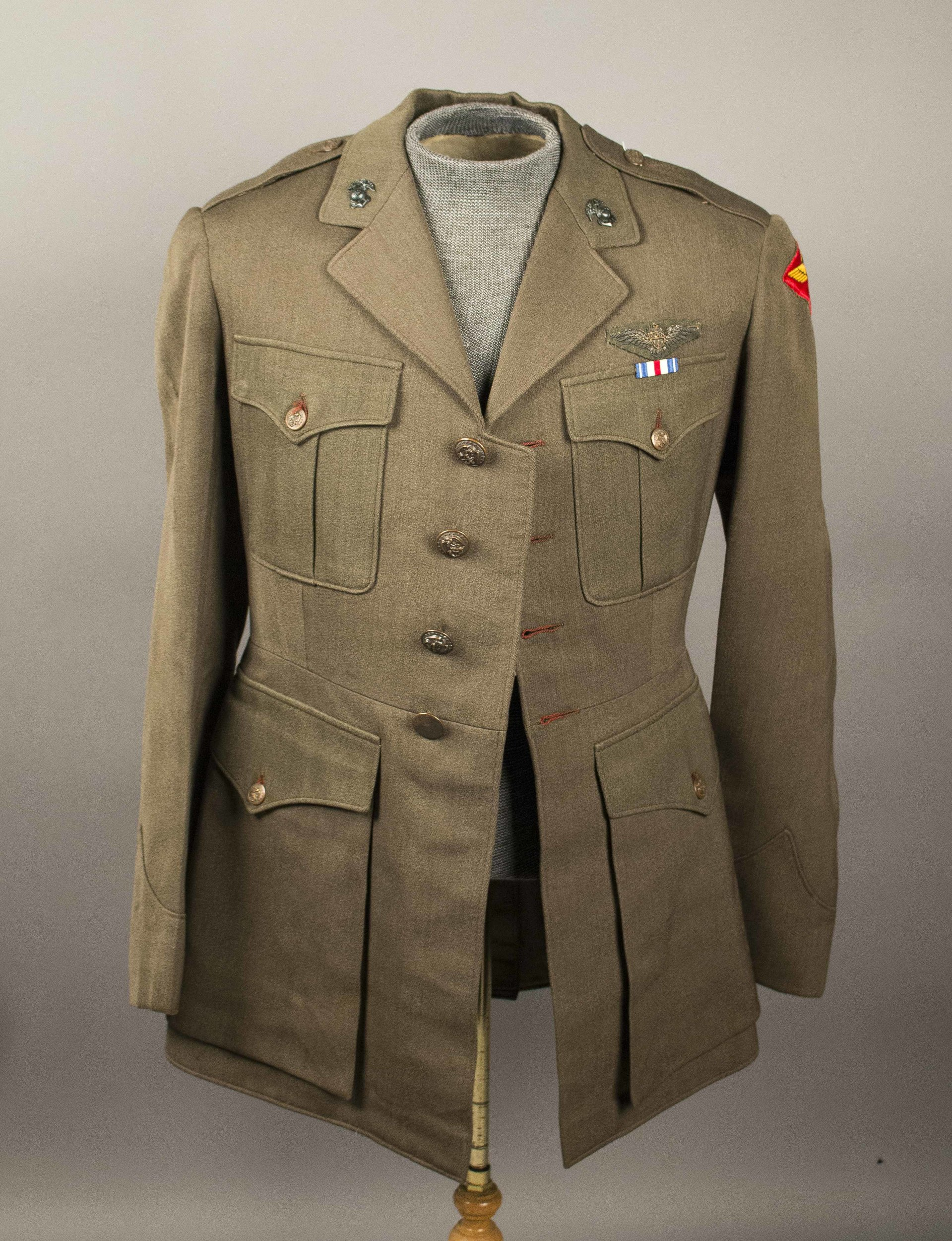 2 US Pilots' Uniforms, 8th Air Force with rare RAF 1942 badge for