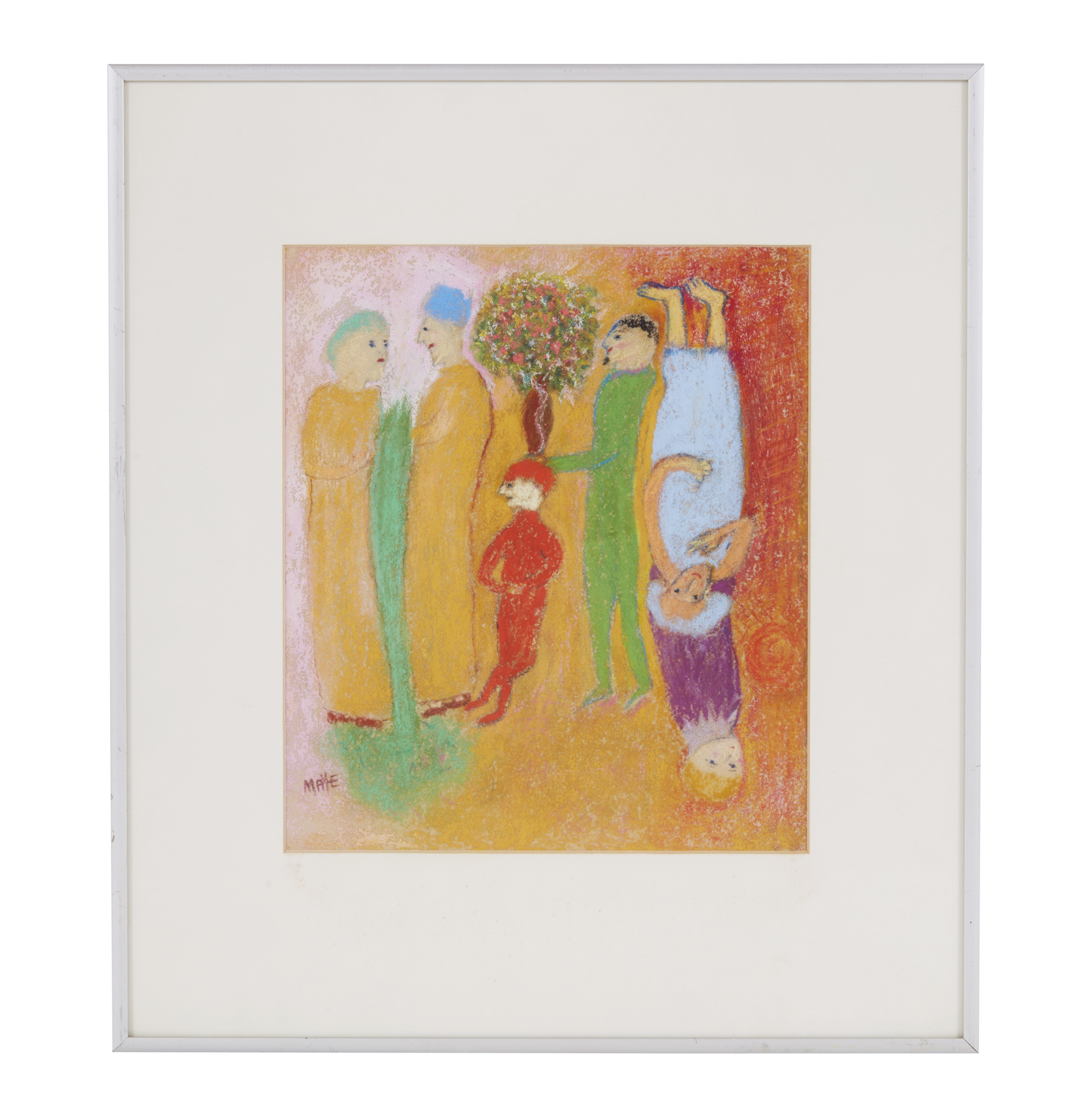 Pastel Painting Margaret Maye The Jester Witherell S