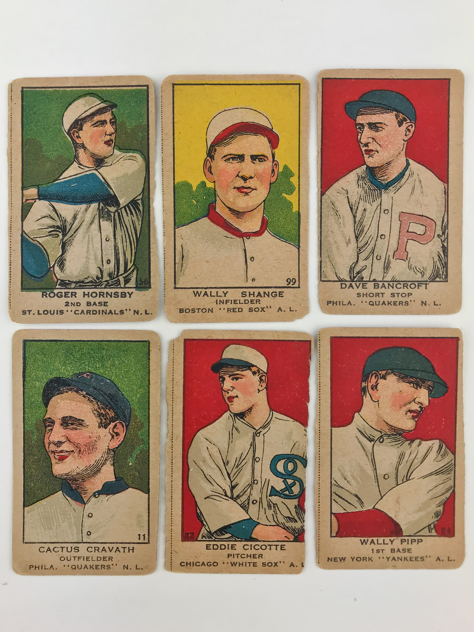Six 1919 W514 Baseball Cards Witherells Auction House