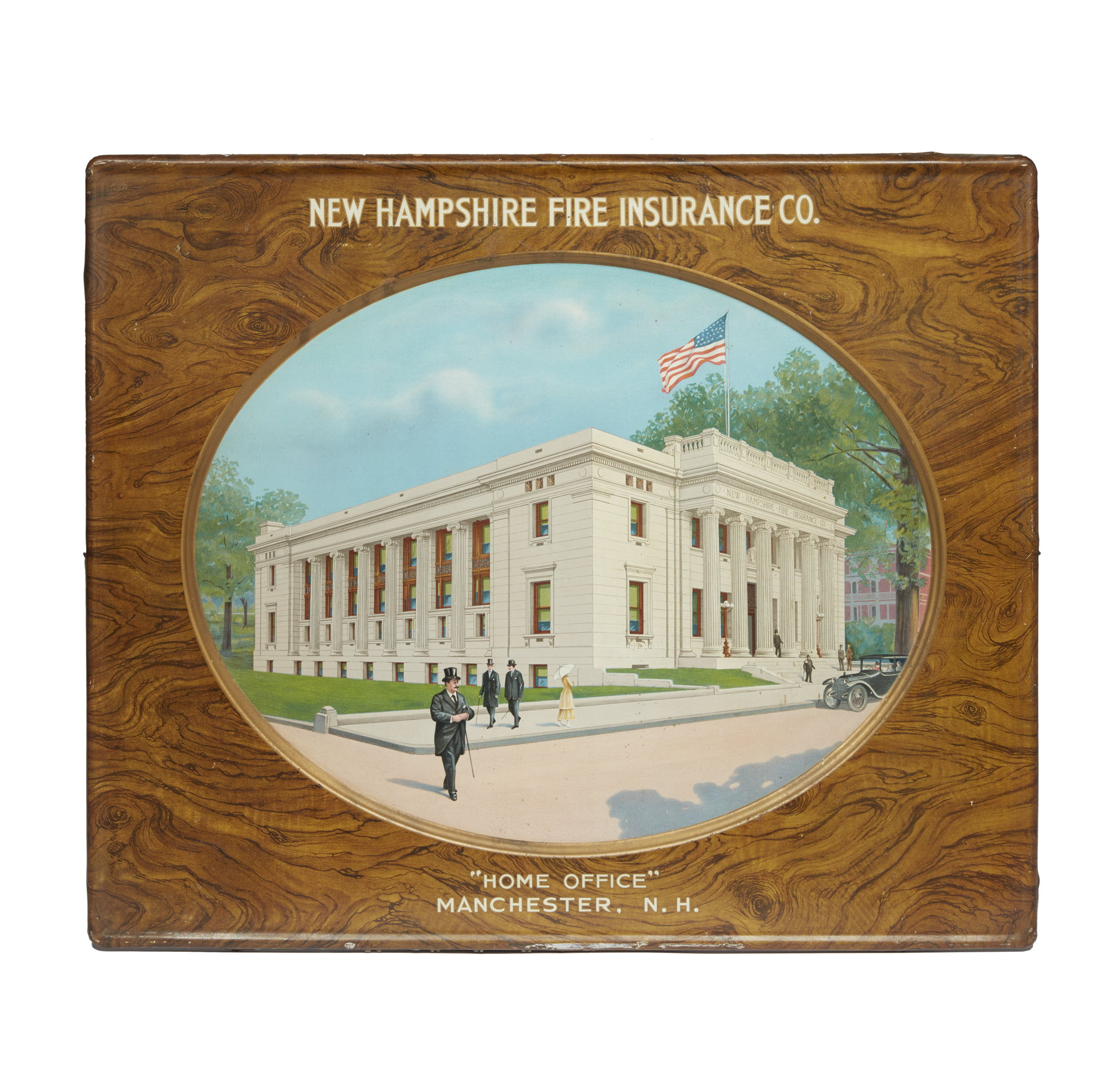 New Hampshire Fire Insurance Co. Embossed Tin Advertising ...