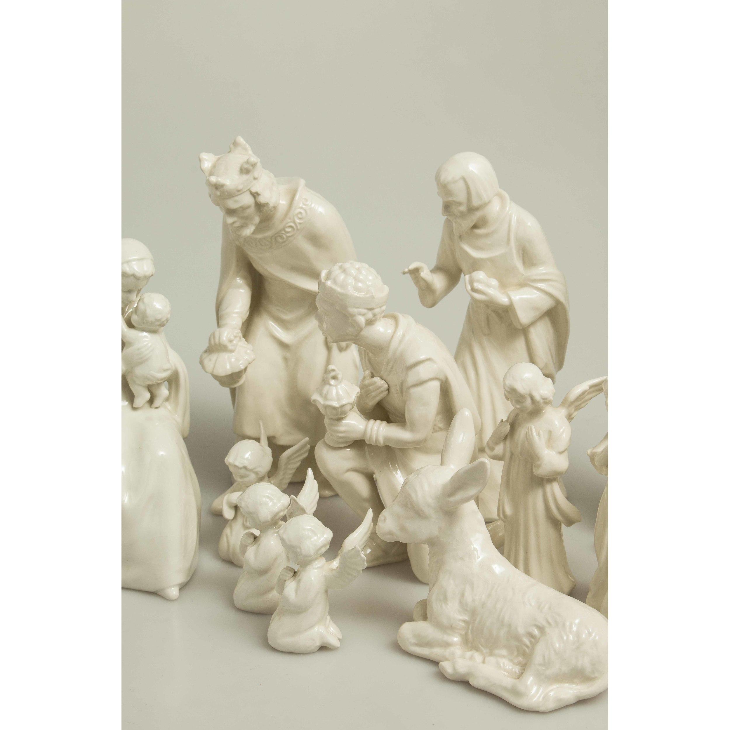 Goebel Nativity Scene Porcelain White 8.5 cm