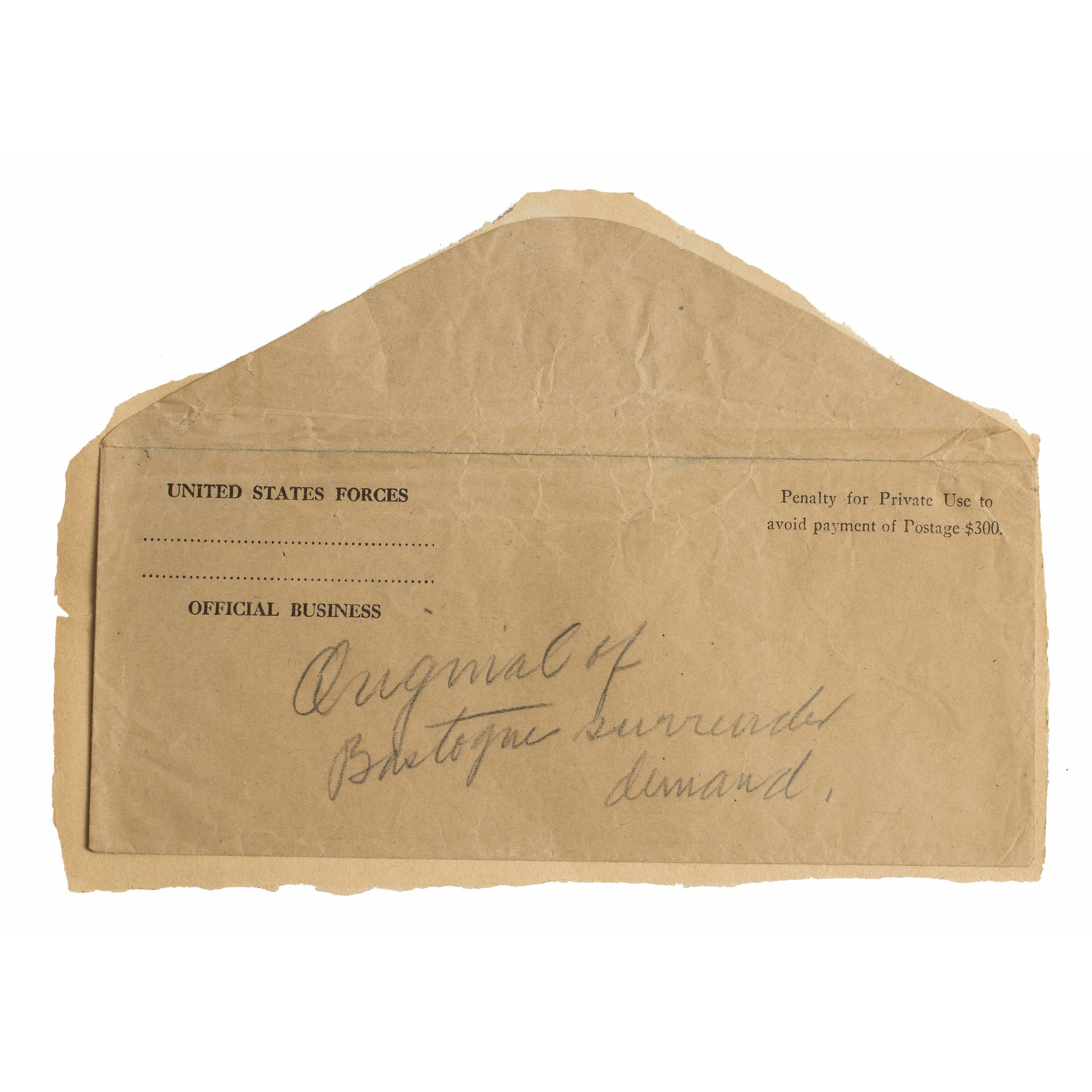 World War Ii Surrender Demand Letter  WitherellS Auction House