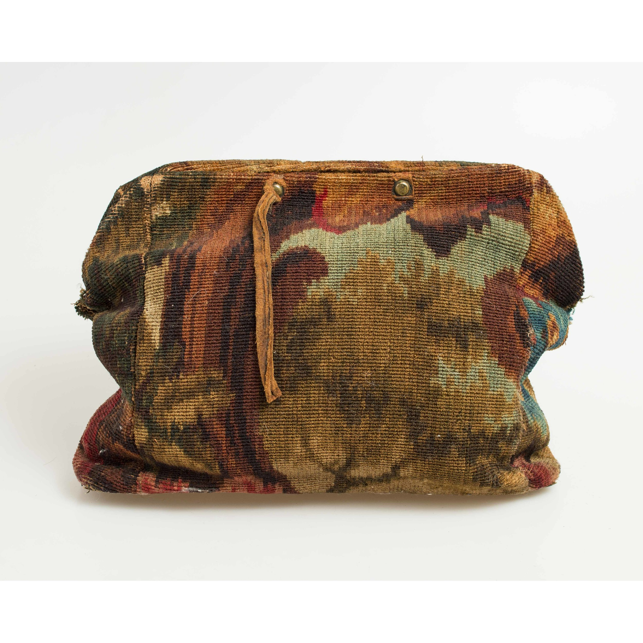 Civil War Carpet Bag With Union Officer Cdv