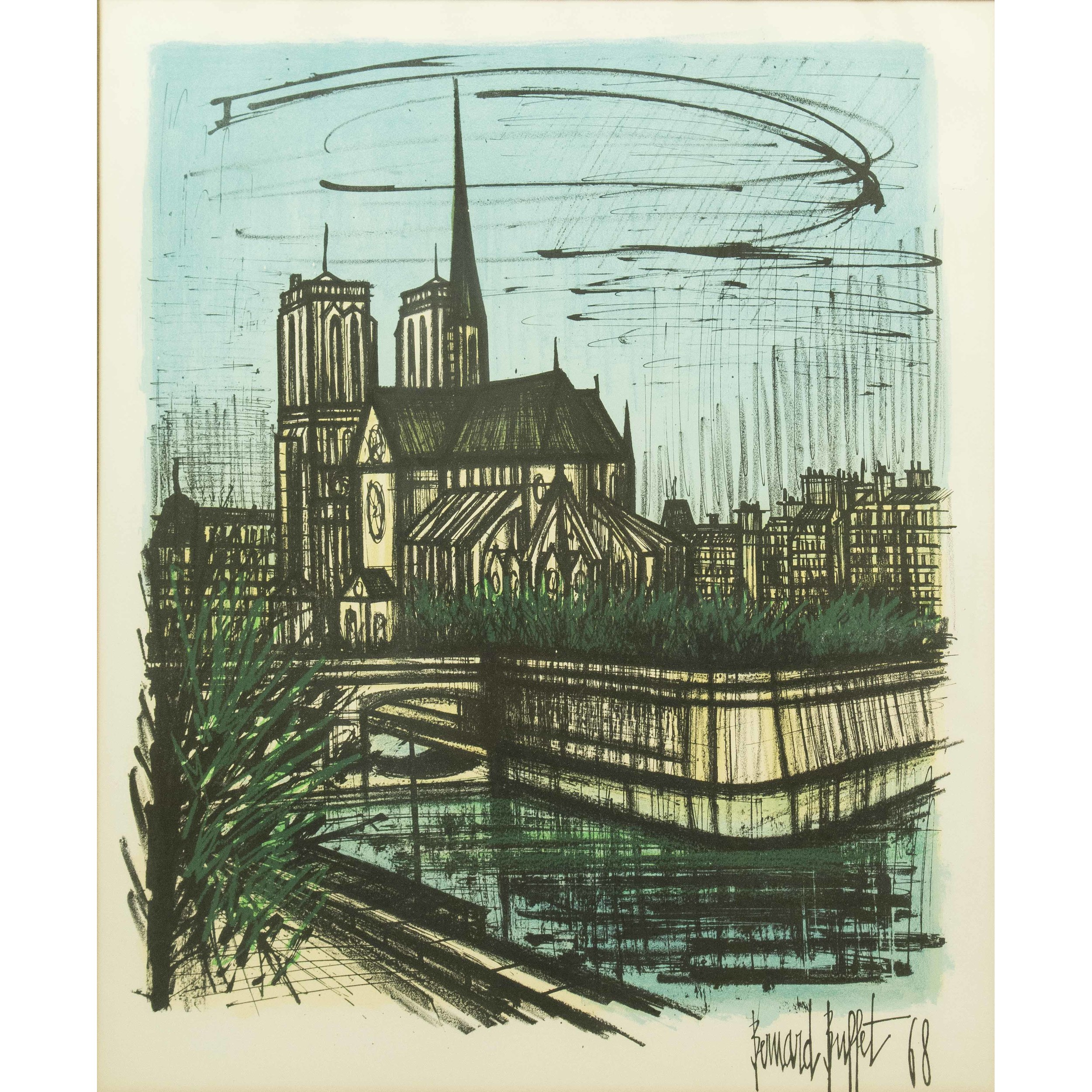 Groovy Bernard Buffet Lithograph Witherells Auction House Download Free Architecture Designs Boapuretrmadebymaigaardcom