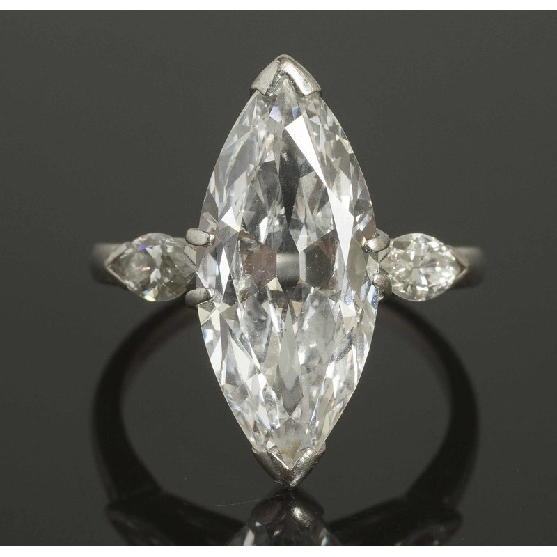 3.5 ct Marquise Diamond Platinum Ring