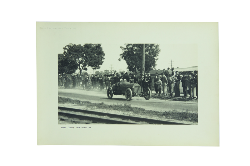 Three Early Car Racing Photogravures