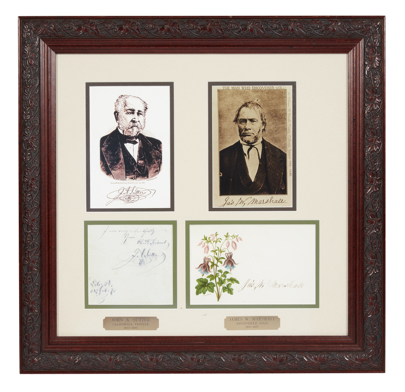 John Sutter and James W. Marshall Autographs