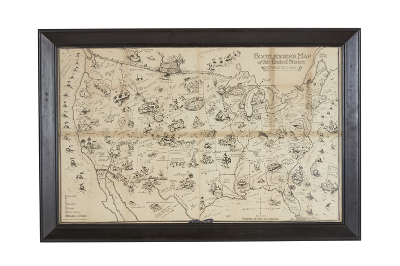 Bootlegger's Map of the United States 1926