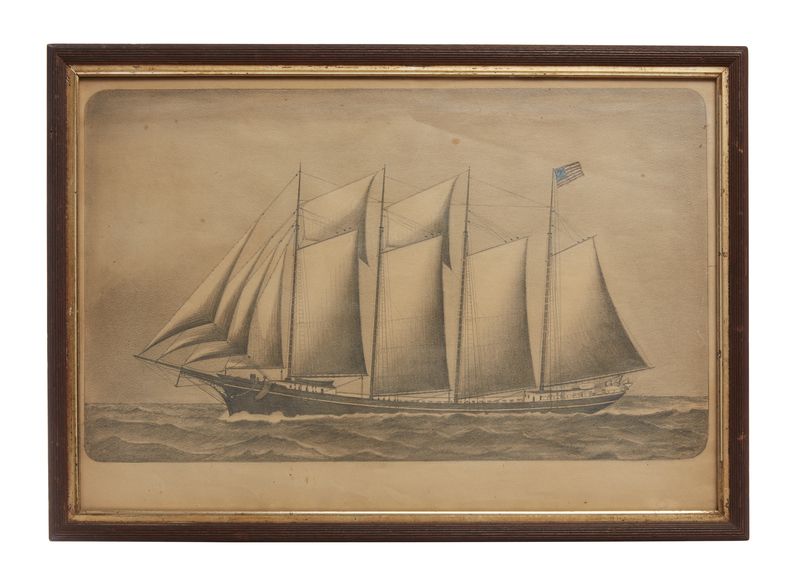 Fred Brown Drawing of the Schooner,