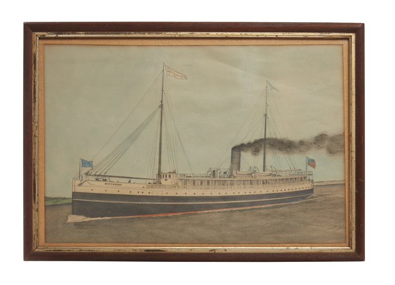 Fred Brown Drawing of the Steamer,