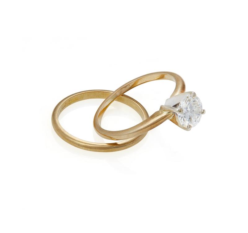 Diamond 14k Ring & Band