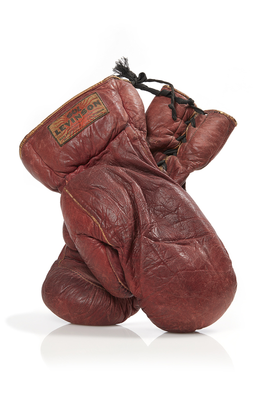 Pair of Heavy Weight Championship Boxing Gloves worn by Max Baer