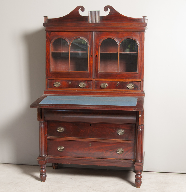 Antique American Mahogany Federal Secretary