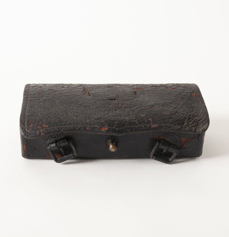 Civil War U.S. Carbine Cartridge Box, with Wooden Block