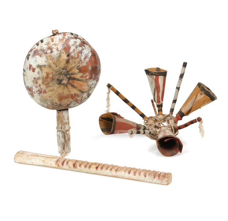 Three Hopi Gourd Ceremonial Items