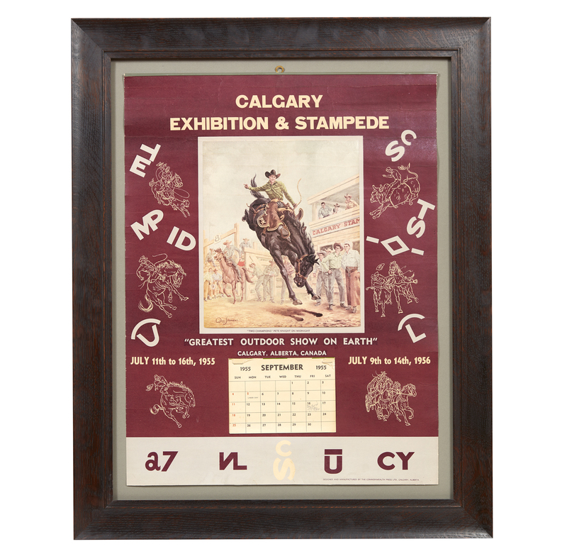1955 Calgary Stampede Calendar Witherell S Auction House