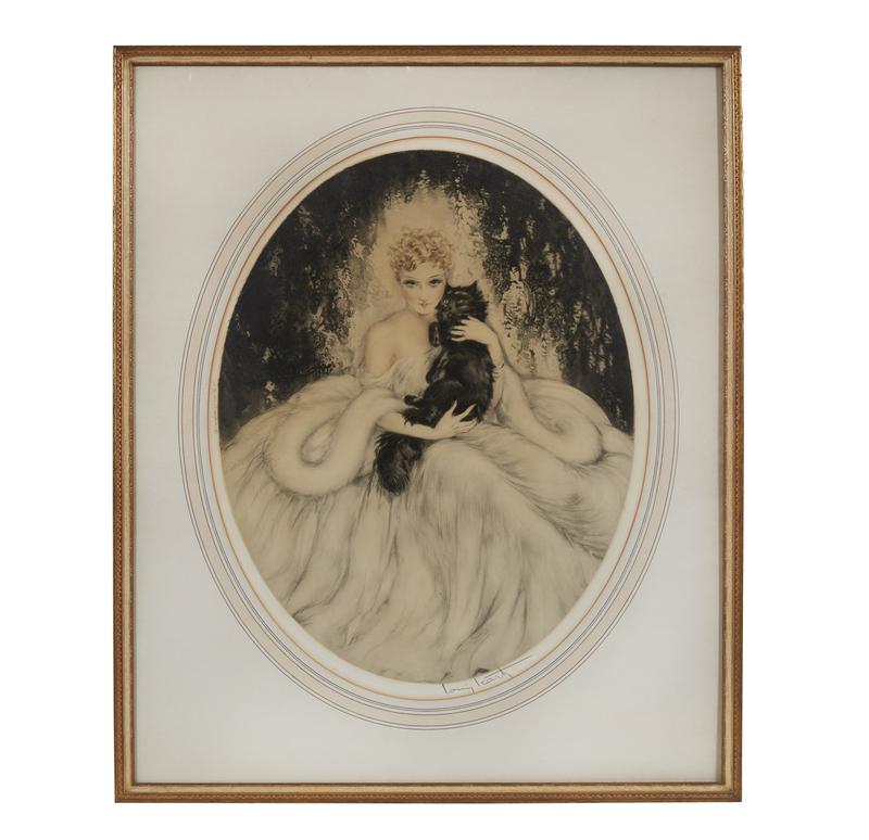 Etching, Louis Icart (1880-1950),