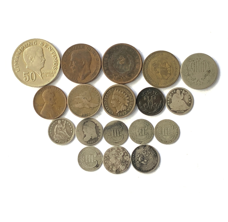 Assorted Coins from the U.S. and Other Countries