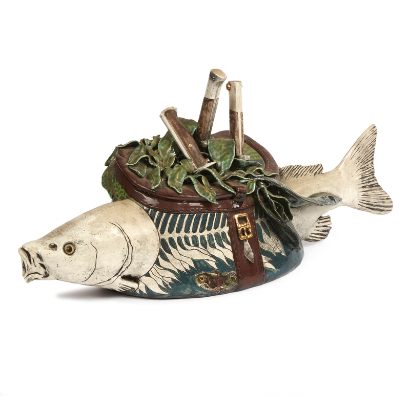 Ceramic Fish with Tackle