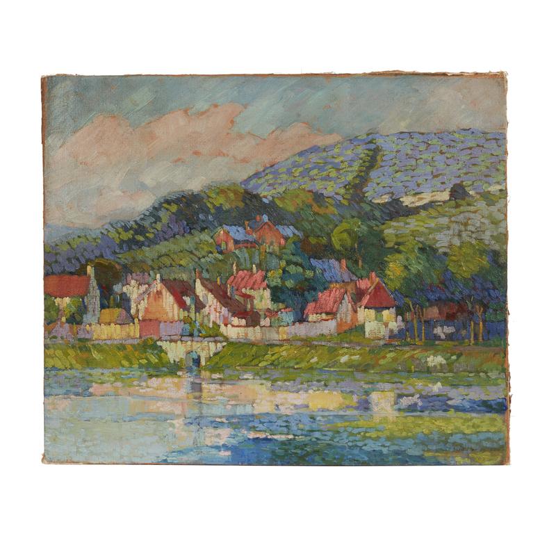 Painting, attrib. J. Alden Weir (1852-1919)