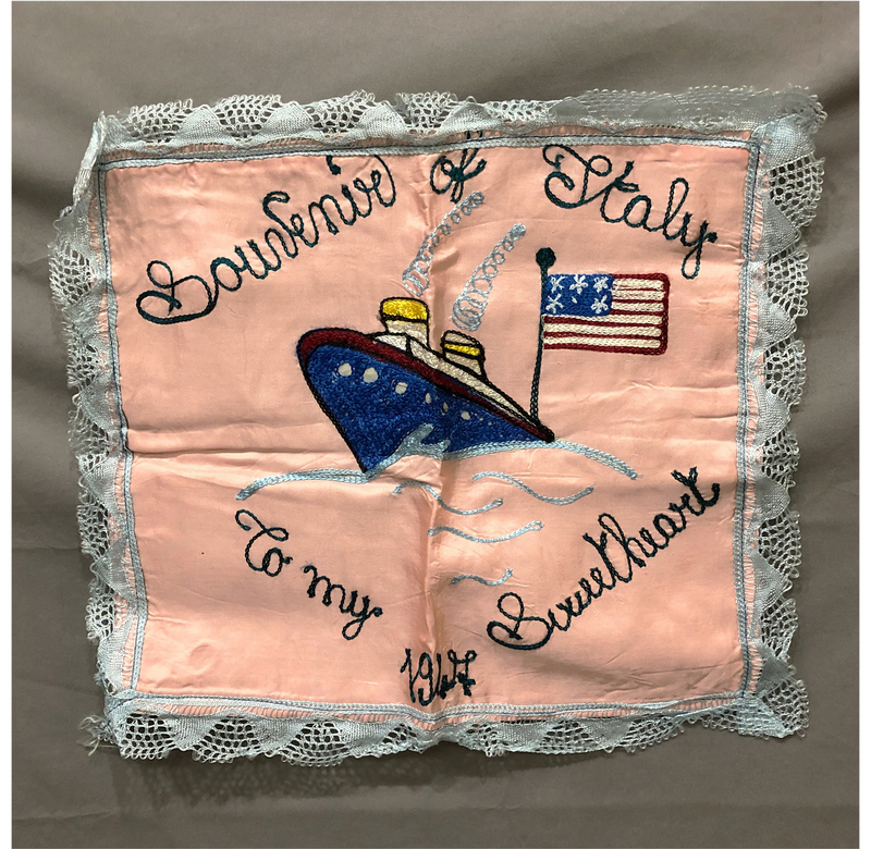 WWII Sweetheart Pillow Cover