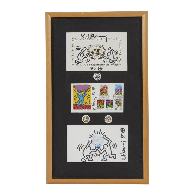Keith Haring (1958-1990) United Nations Artwork