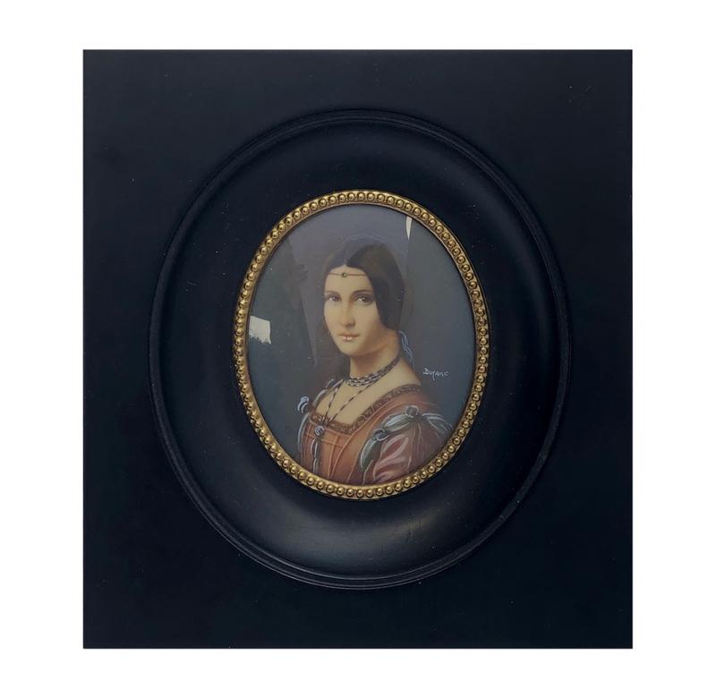 19th Century Portrait Miniature Signed