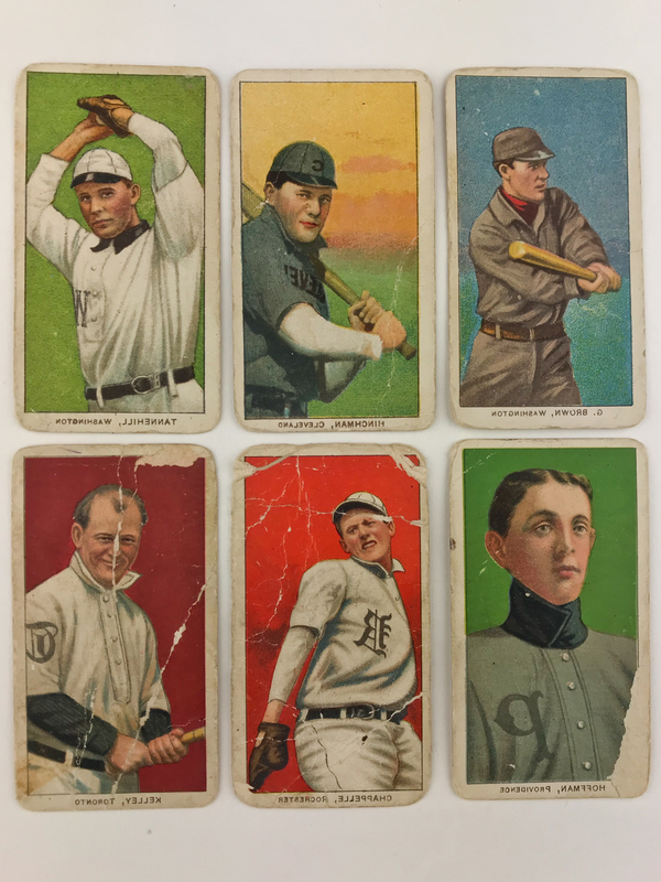 Six 1909-1911 Sweet Caporal Baseball Cards