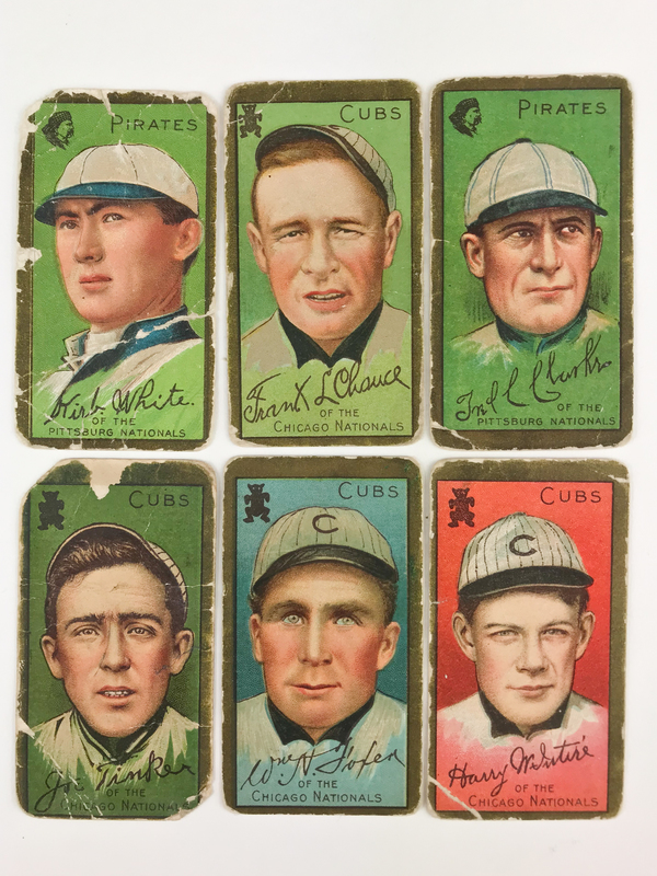 Six 1911 T205 Gold Border Baseball Cards