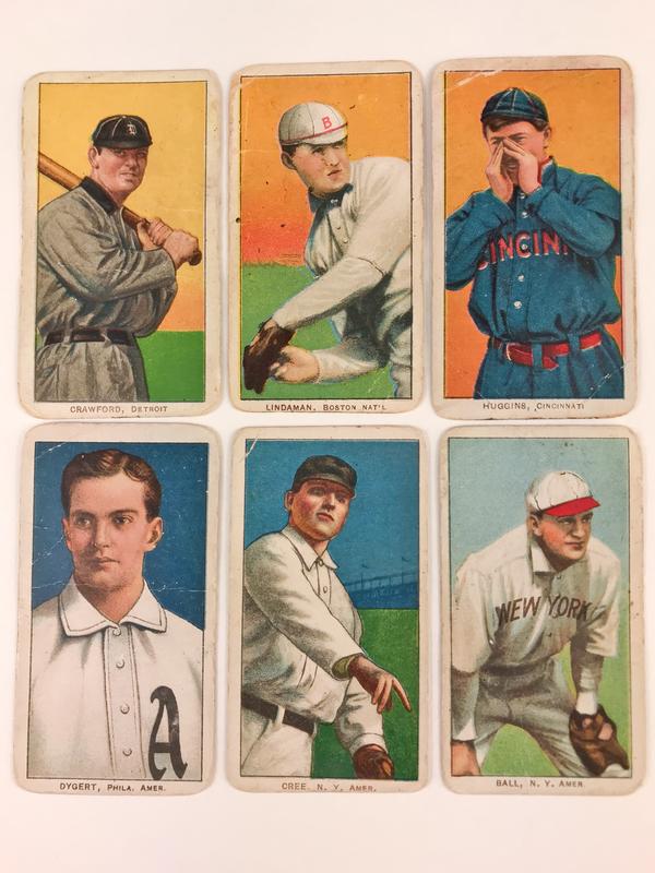 Six 1909-1911 T206 Piedmont Baseball Cards