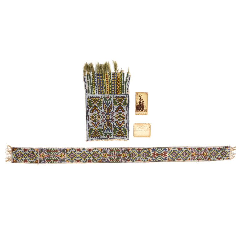 Assorted Chippewa Indian Beadwork, 19th Century
