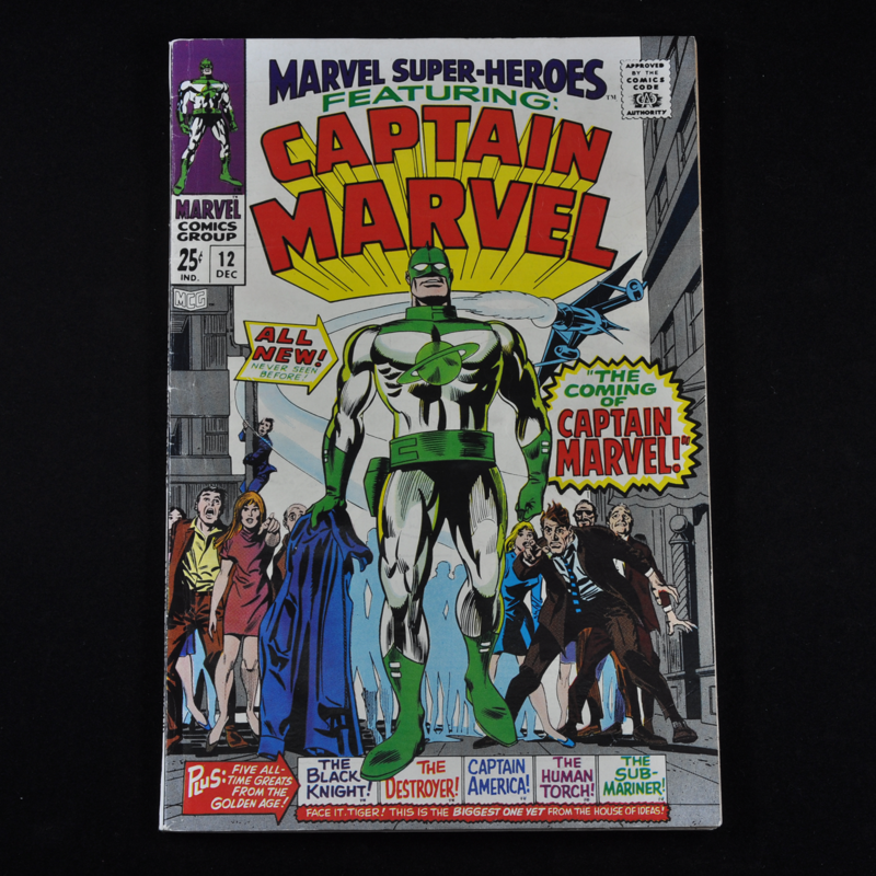 Marvel Super-Heroes Featuring: Captain Marvel #12, 1967 (Origin and First Appearance of Mar-Vell)