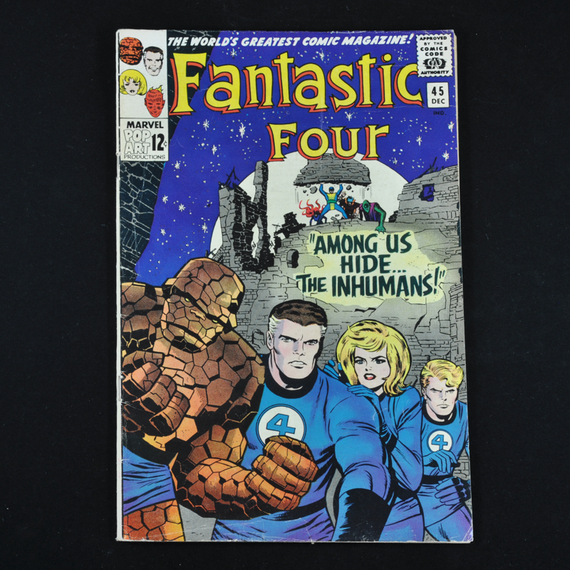 Marvel's Fantastic Four #45, 1965 (First Appearance of The Inhumans)