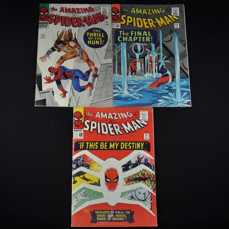 Marvel's The Amazing Spiderman (1965-1966) - #31, #33, and #34