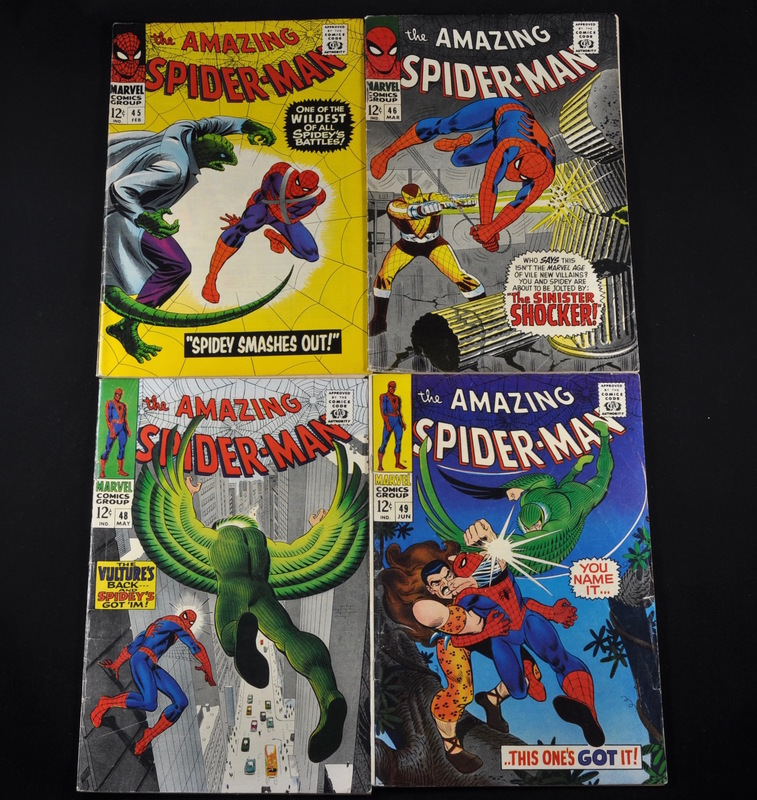 Marvel's The Amazing Spiderman (1967) - #45, #46, #48, and #49