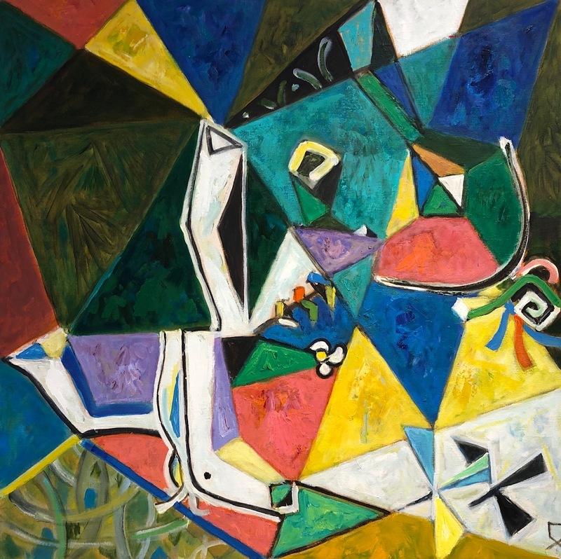 Pavel Hodaev: Horse on Grass